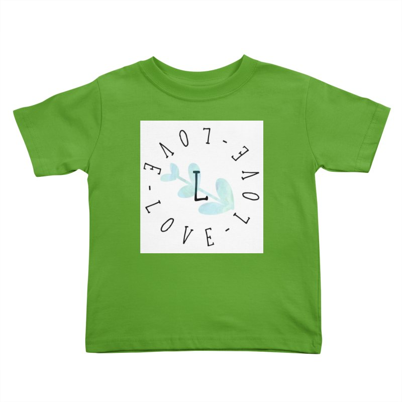Love-Love-Love Kids Toddler T-Shirt by IF Creation's Artist Shop