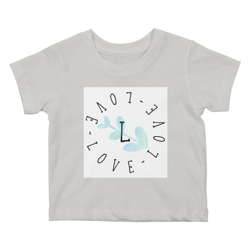 Love-Love-Love Kids Baby T-Shirt by IF Creation's Artist Shop
