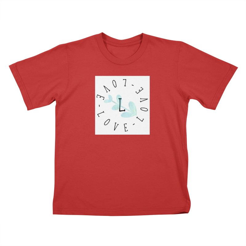 Love-Love-Love Kids T-Shirt by IF Creation's Artist Shop
