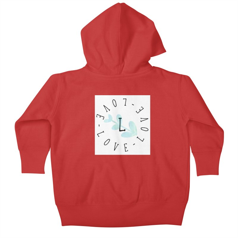 Love-Love-Love Kids Baby Zip-Up Hoody by IF Creation's Artist Shop