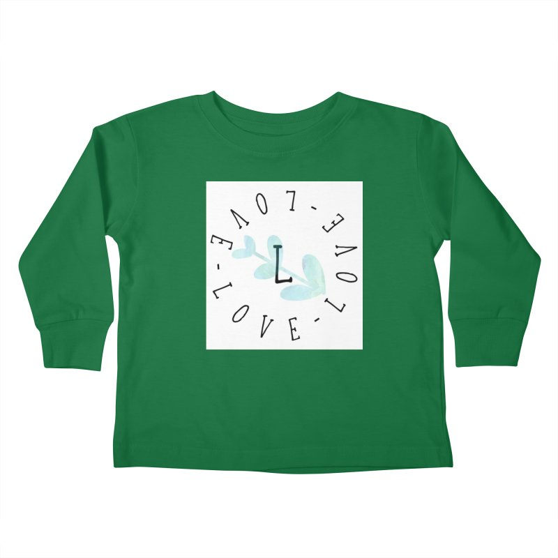 Love-Love-Love Kids Toddler Longsleeve T-Shirt by IF Creation's Artist Shop