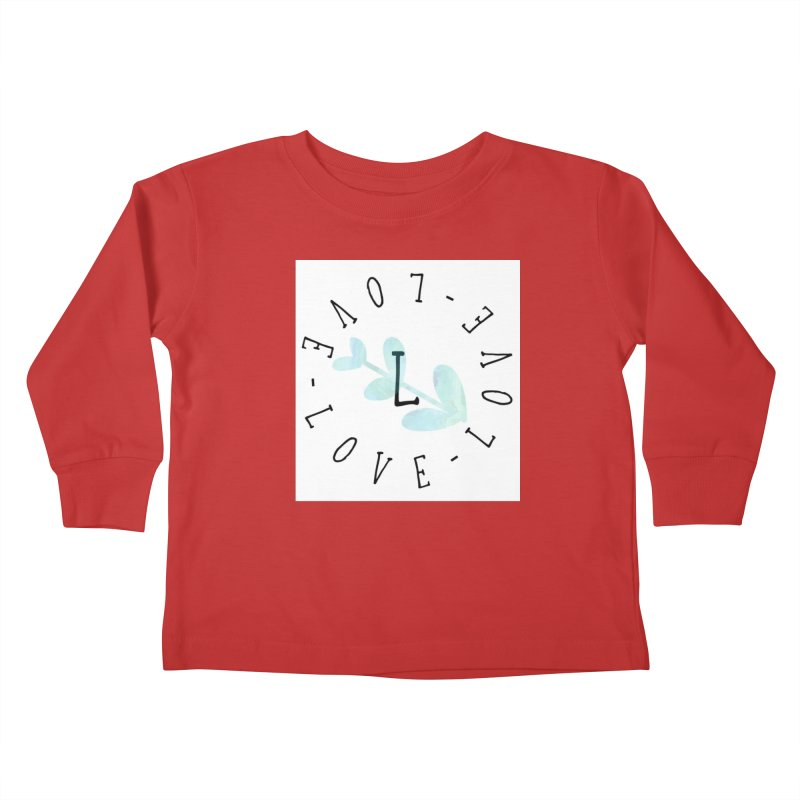 Love-Love-Love Kids Toddler Longsleeve T-Shirt by IF Creation's Artist Shop