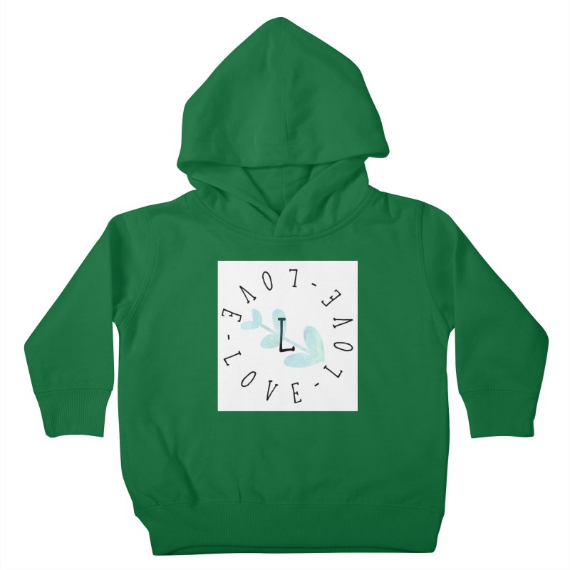 Love-Love-Love Kids Toddler Pullover Hoody by IF Creation's Artist Shop