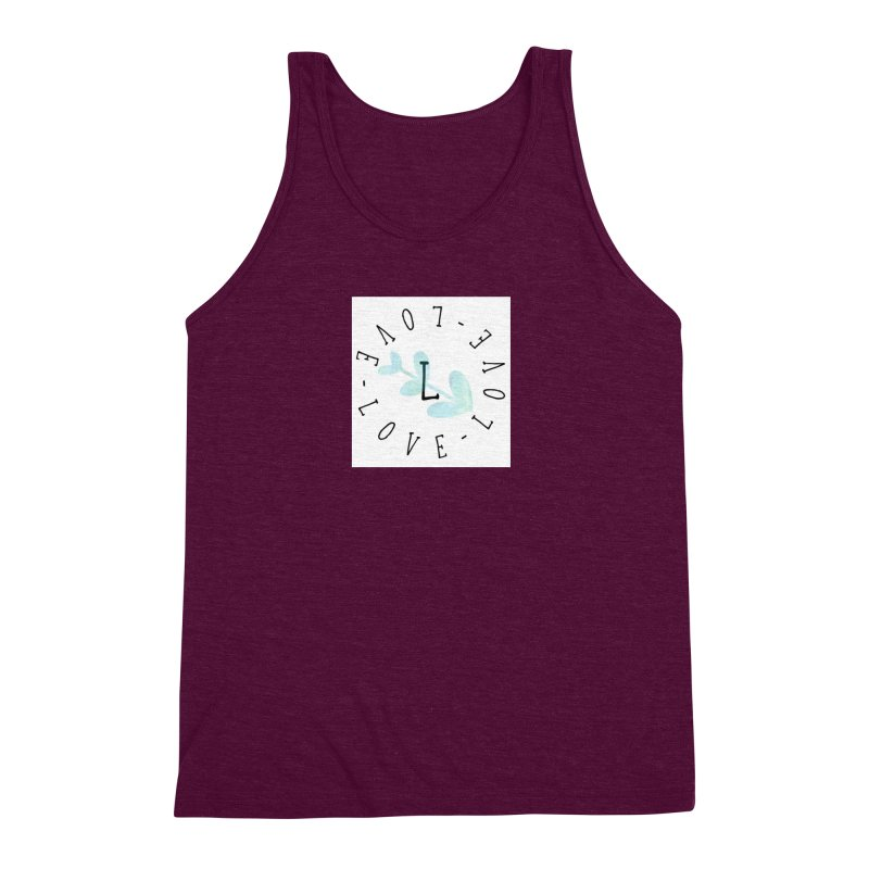 Love-Love-Love Men's Triblend Tank by IF Creation's Artist Shop