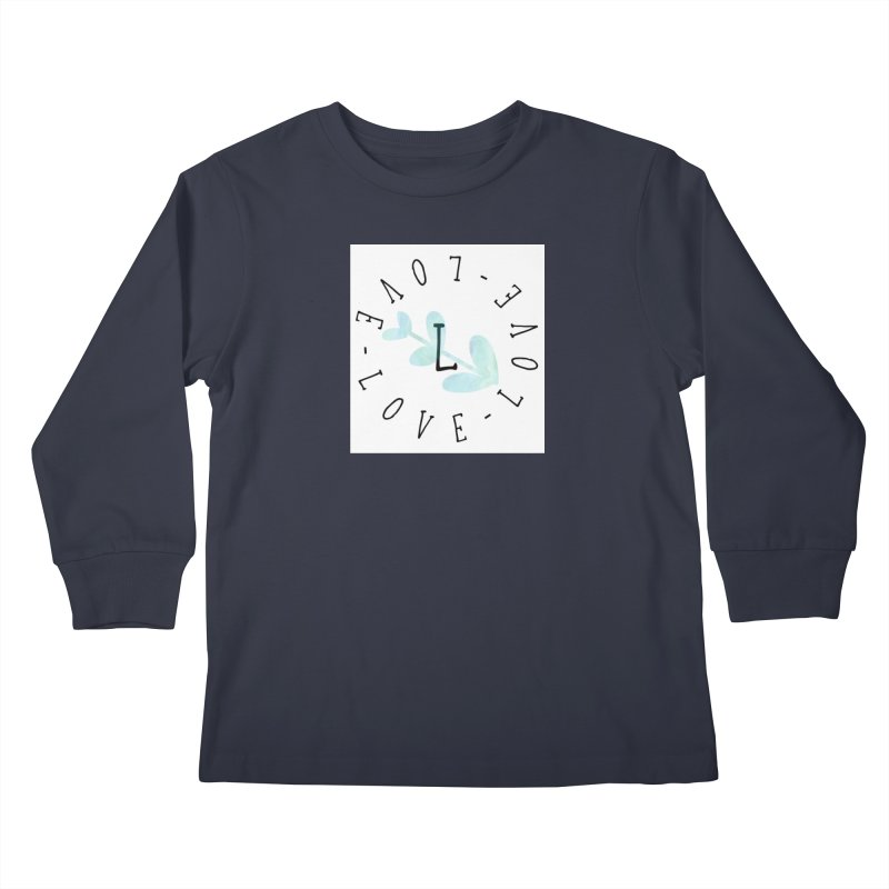 Love-Love-Love Kids Longsleeve T-Shirt by IF Creation's Artist Shop