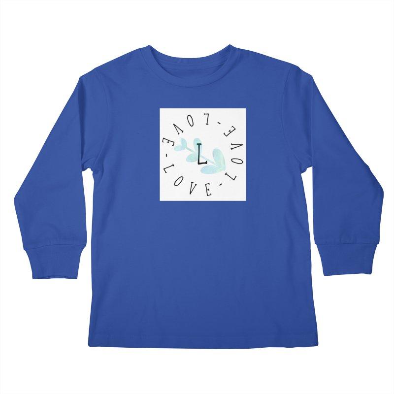 Love-Love-Love Kids Longsleeve T-Shirt by IF Creation's Artist Shop