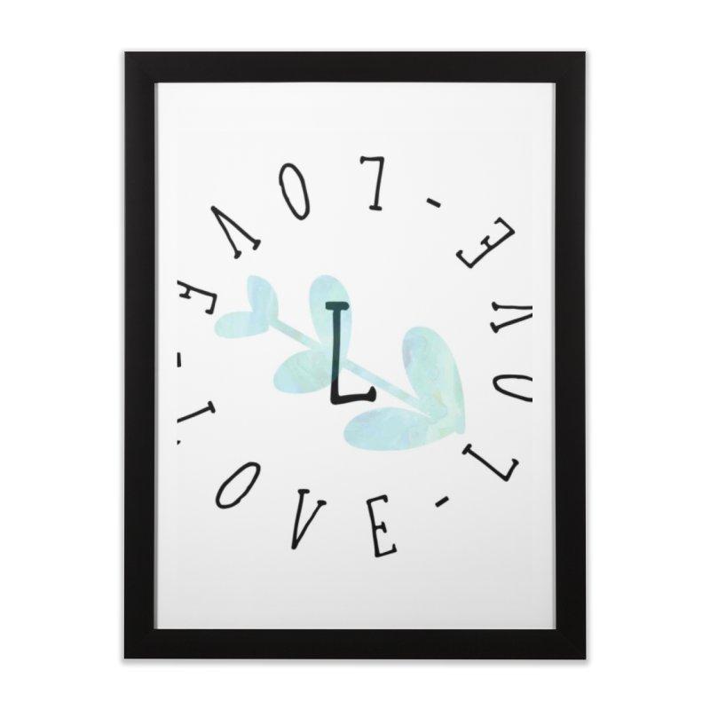 Love-Love-Love Home Framed Fine Art Print by IF Creation's Artist Shop