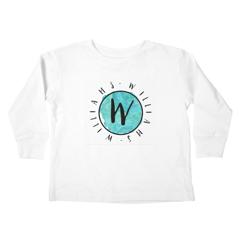 Williams Kids Toddler Longsleeve T-Shirt by IF Creation's Artist Shop
