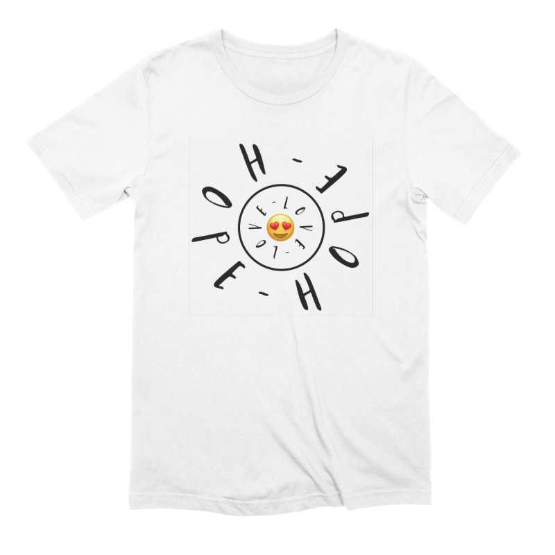 Hope-Love Men's Extra Soft T-Shirt by IF Creation's Artist Shop