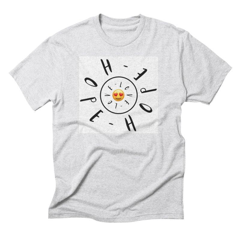 Hope-Love Men's T-Shirt by IF Creation's Artist Shop