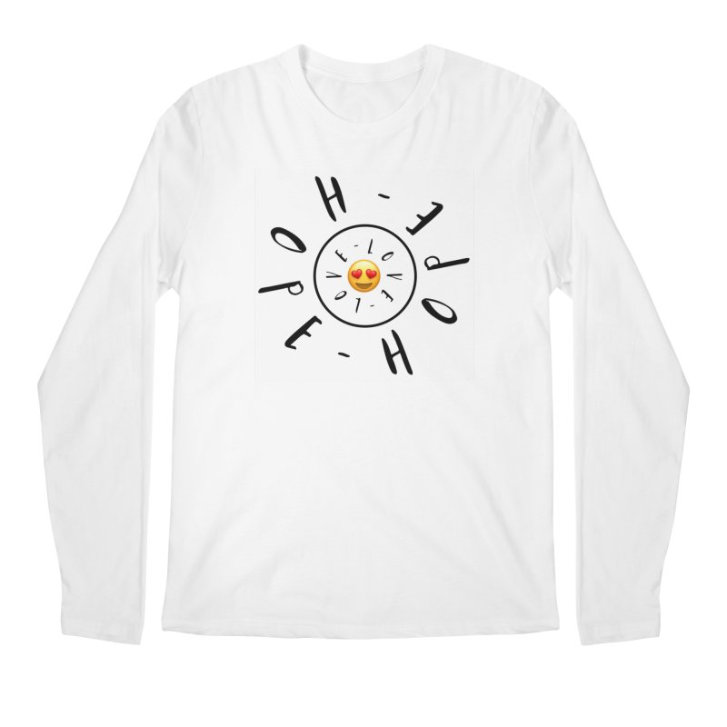 Hope-Love Men's Regular Longsleeve T-Shirt by IF Creation's Artist Shop