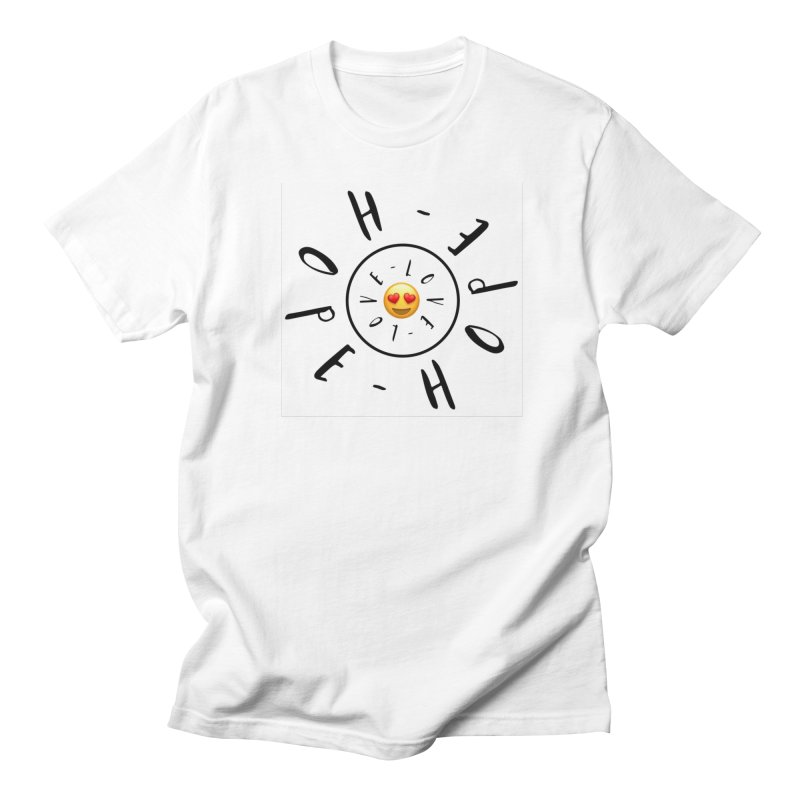 Hope-Love Men's Regular T-Shirt by IF Creation's Artist Shop
