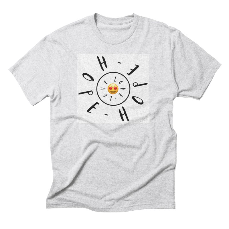 Hope-Love Men's Triblend T-Shirt by IF Creation's Artist Shop