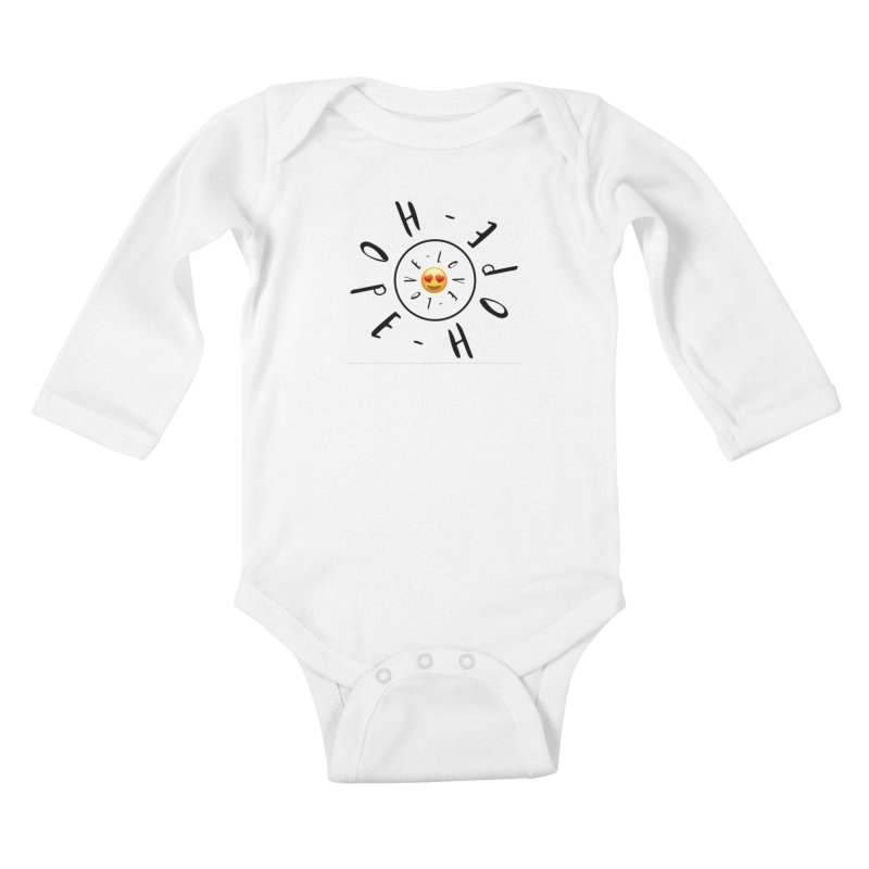 Hope-Love Kids Baby Longsleeve Bodysuit by IF Creation's Artist Shop