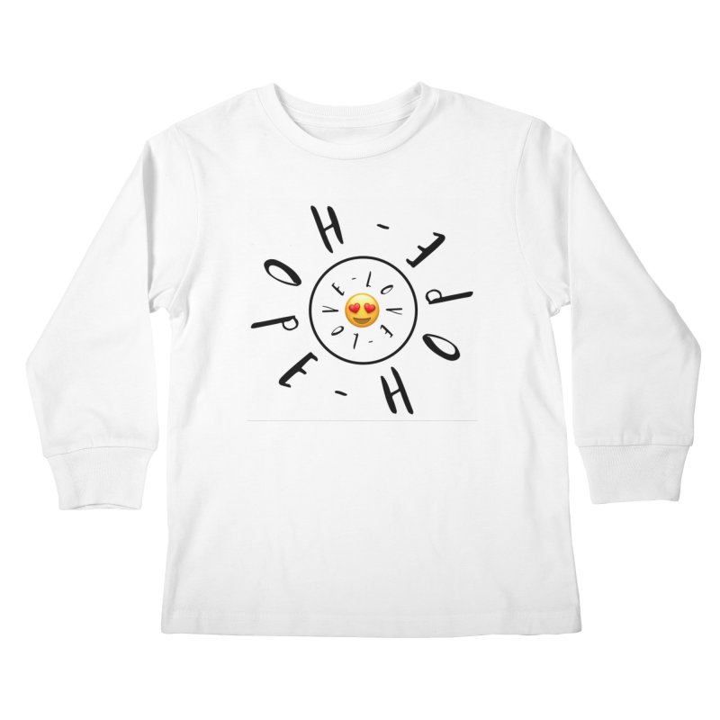 Hope-Love Kids Longsleeve T-Shirt by IF Creation's Artist Shop