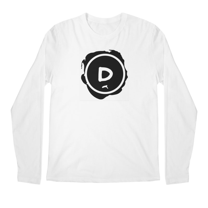 Letter D Stamp Men's Regular Longsleeve T-Shirt by IF Creation's Artist Shop