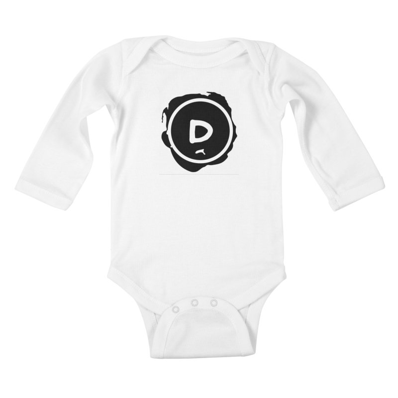 Letter D Stamp Kids Baby Longsleeve Bodysuit by IF Creation's Artist Shop
