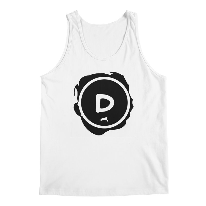 Letter D Stamp Men's Regular Tank by IF Creation's Artist Shop