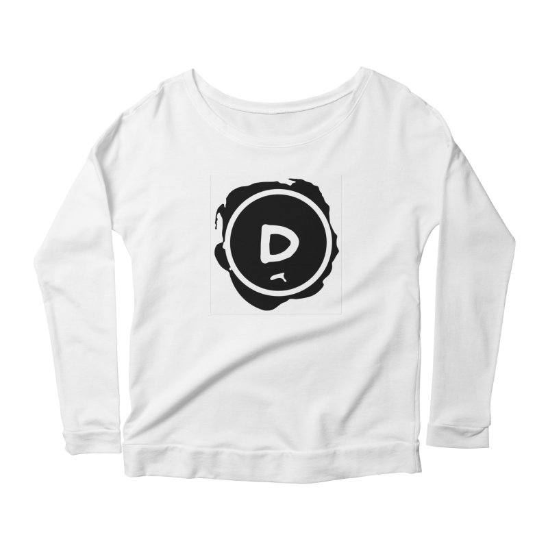 Letter D Stamp Women's Longsleeve Scoopneck  by IF Creation's Artist Shop