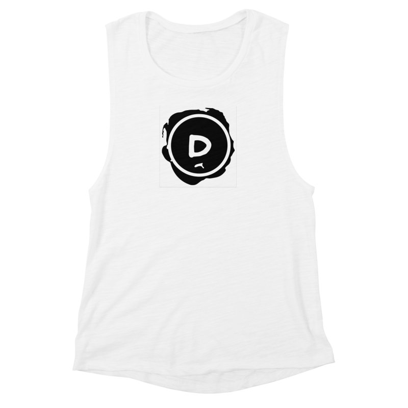 Letter D Stamp Women's Muscle Tank by IF Creation's Artist Shop