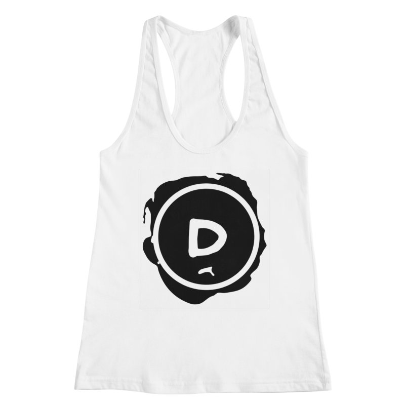 Letter D Stamp Women's Racerback Tank by IF Creation's Artist Shop