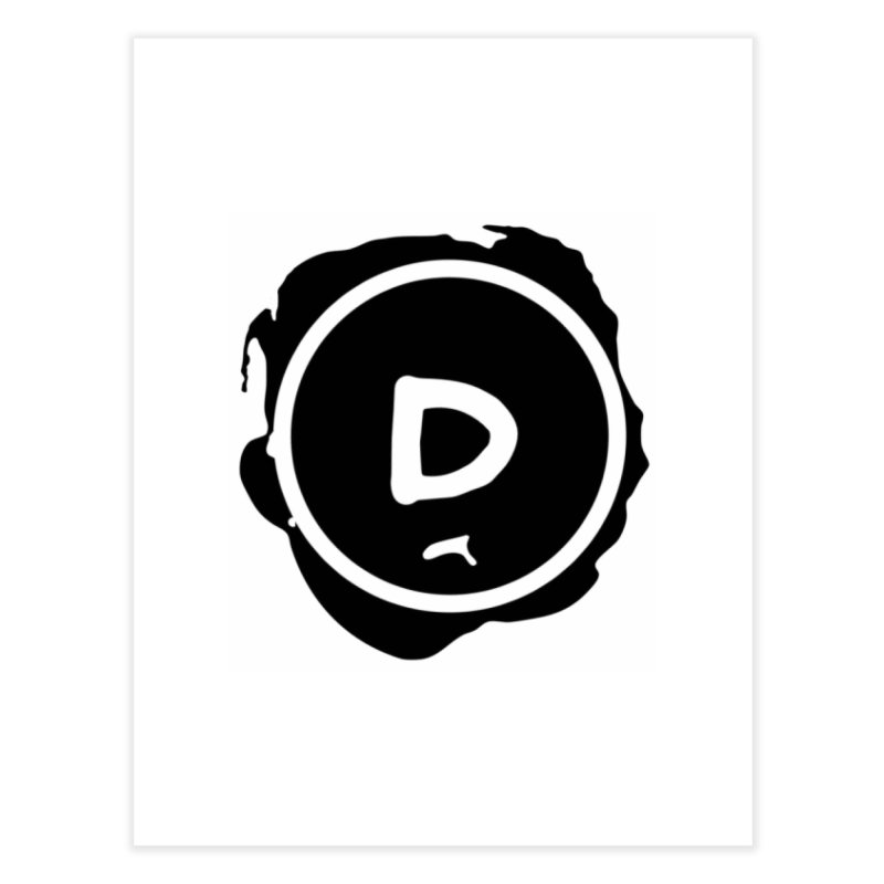Letter D Stamp Home Fine Art Print by IF Creation's Artist Shop