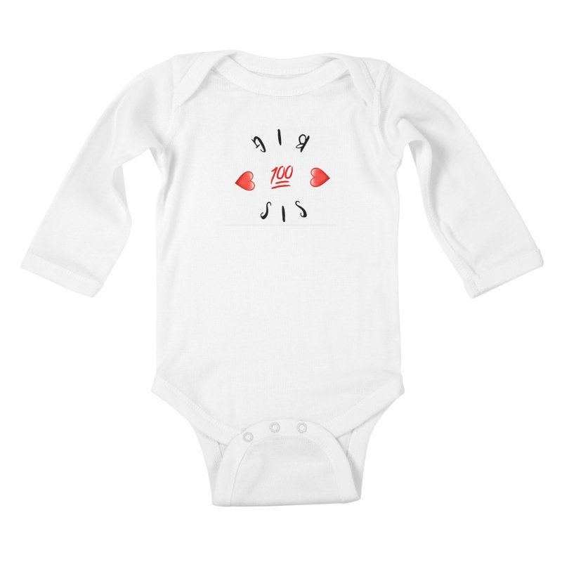 BIg Sis Kids Baby Longsleeve Bodysuit by IF Creation's Artist Shop