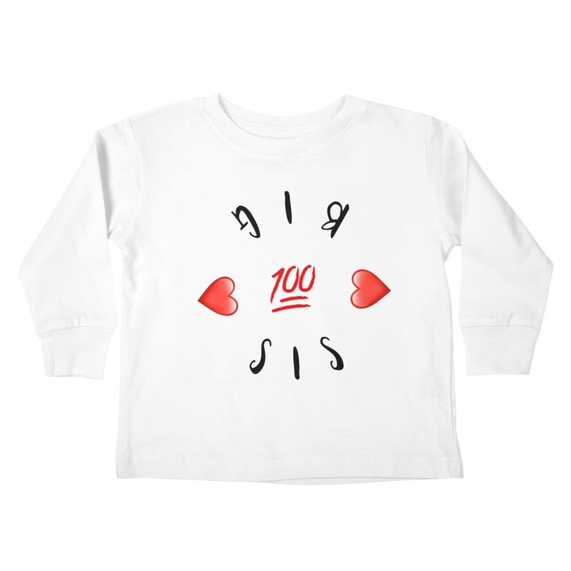 BIg Sis Kids Toddler Longsleeve T-Shirt by IF Creation's Artist Shop
