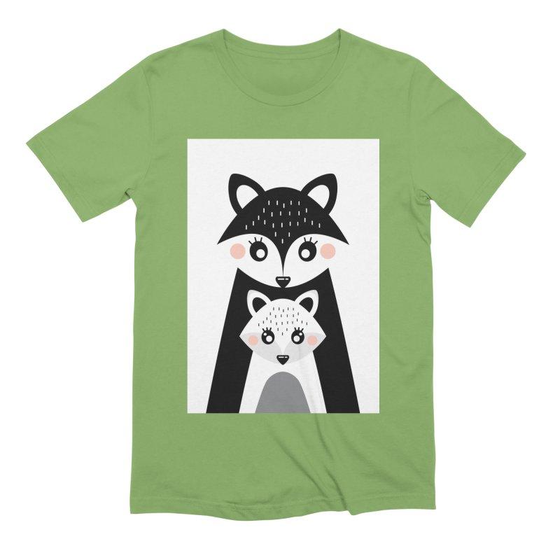 MAMA FOX & BABY FOX Men's T-Shirt by IF Creation's Artist Shop