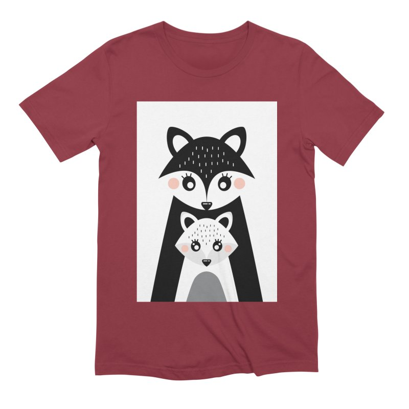 MAMA FOX & BABY FOX Men's Extra Soft T-Shirt by IF Creation's Artist Shop