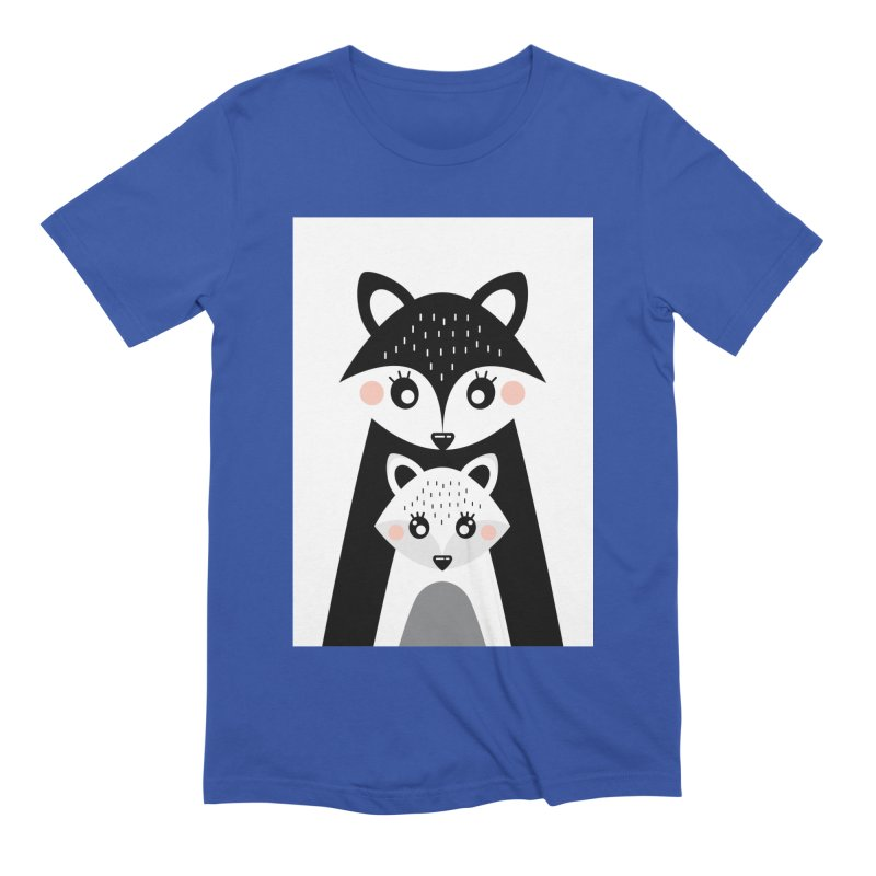 MAMA FOX & BABY FOX Men's T-Shirt by IF Creation's Artist Shop