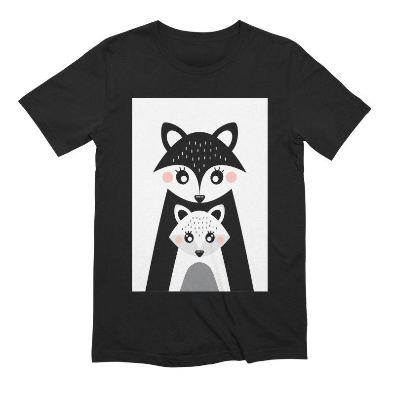MAMA FOX & BABY FOX Men's Extra Soft T-Shirt by IF Creation's Artist Shop