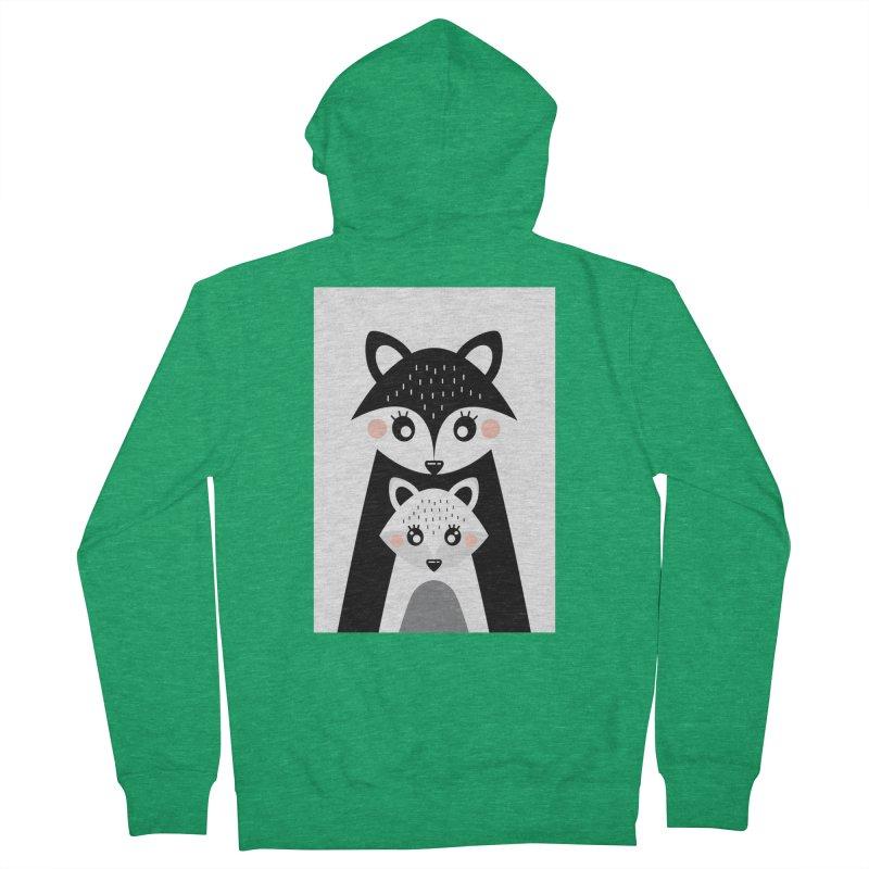 MAMA FOX & BABY FOX Women's Zip-Up Hoody by IF Creation's Artist Shop