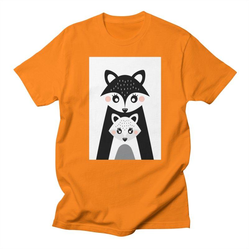 MAMA FOX & BABY FOX Women's T-Shirt by IF Creation's Artist Shop