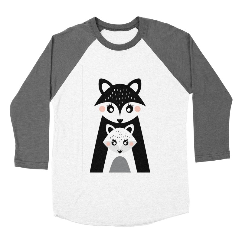 MAMA FOX & BABY FOX Women's Longsleeve T-Shirt by IF Creation's Artist Shop