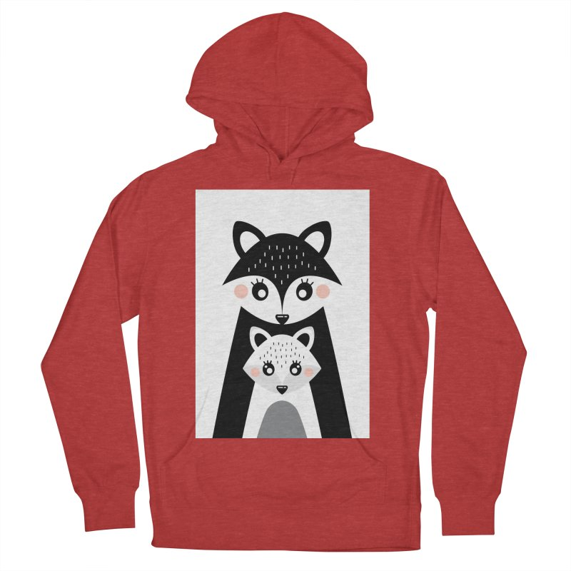 MAMA FOX & BABY FOX Women's French Terry Pullover Hoody by IF Creation's Artist Shop