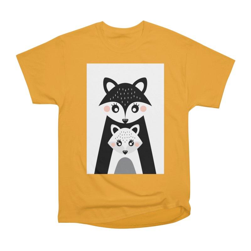 MAMA FOX & BABY FOX Women's Heavyweight Unisex T-Shirt by IF Creation's Artist Shop