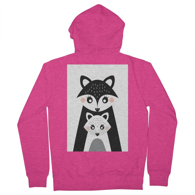 MAMA FOX & BABY FOX Women's French Terry Zip-Up Hoody by IF Creation's Artist Shop