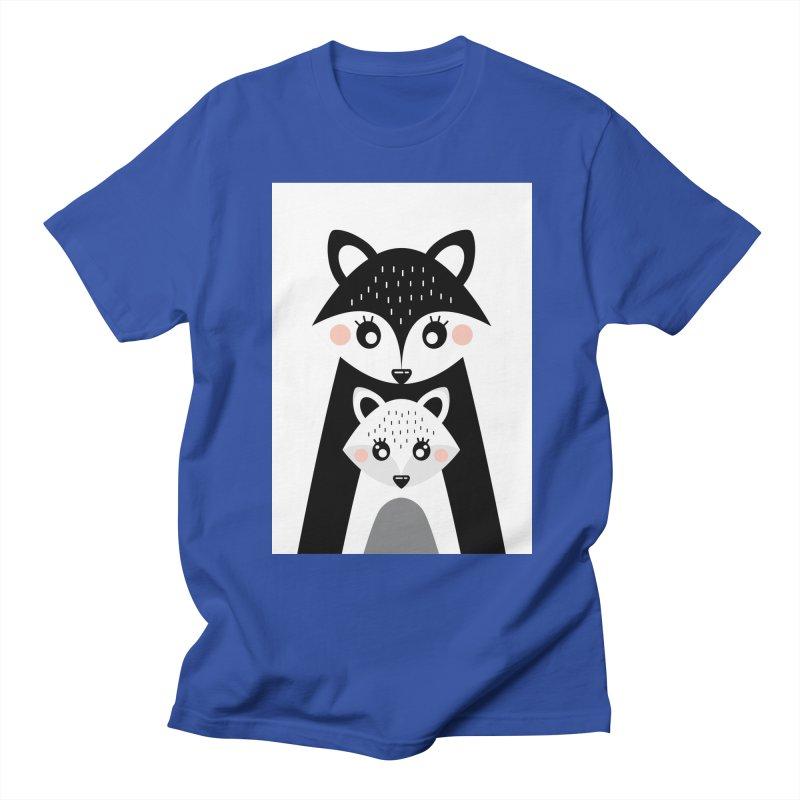MAMA FOX & BABY FOX Women's Regular Unisex T-Shirt by IF Creation's Artist Shop