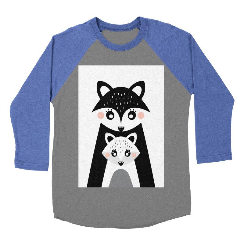 MAMA FOX & BABY FOX Women's Baseball Triblend T-Shirt by IF Creation's Artist Shop