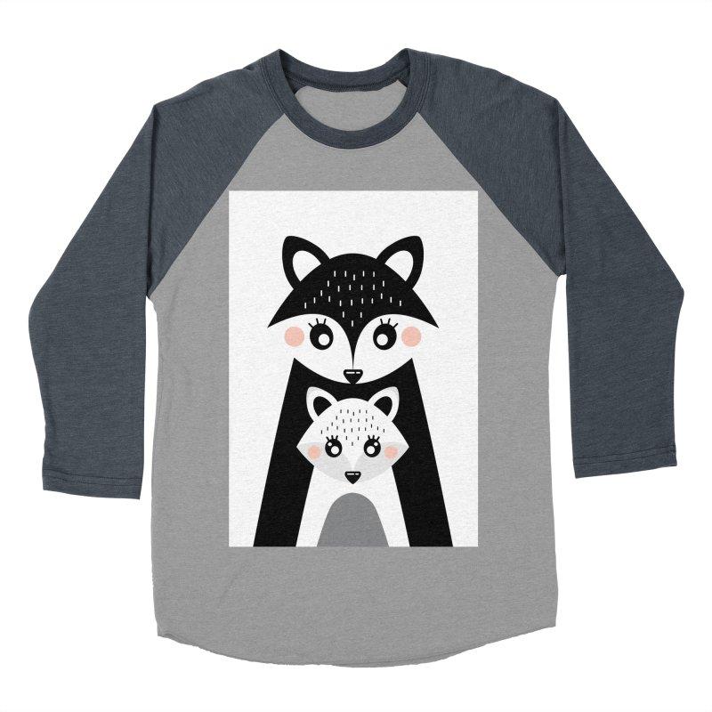 MAMA FOX & BABY FOX Women's Baseball Triblend Longsleeve T-Shirt by IF Creation's Artist Shop
