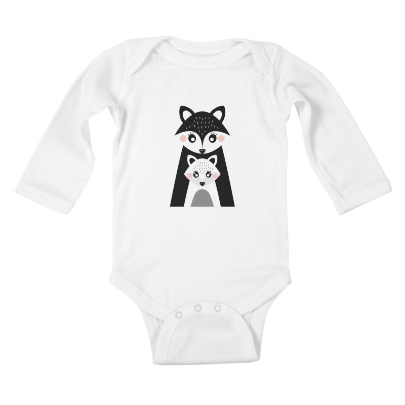 MAMA FOX & BABY FOX Kids Baby Longsleeve Bodysuit by IF Creation's Artist Shop