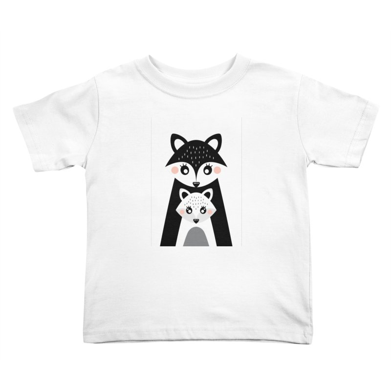 MAMA FOX & BABY FOX Kids Toddler T-Shirt by IF Creation's Artist Shop