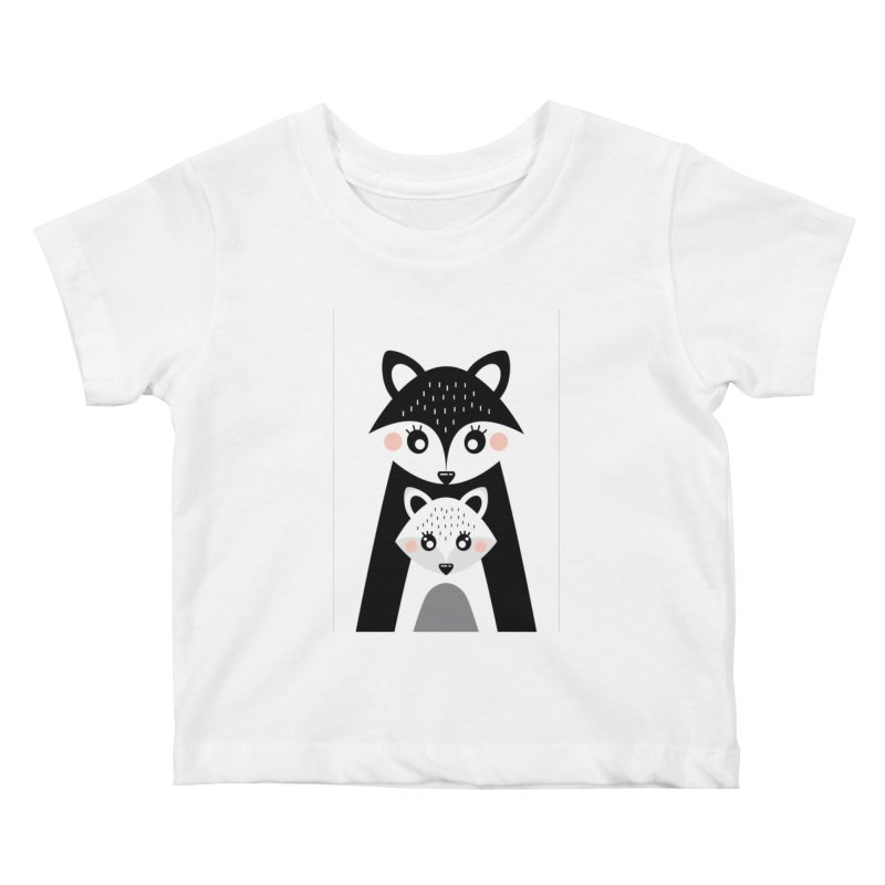 MAMA FOX & BABY FOX Kids Baby T-Shirt by IF Creation's Artist Shop