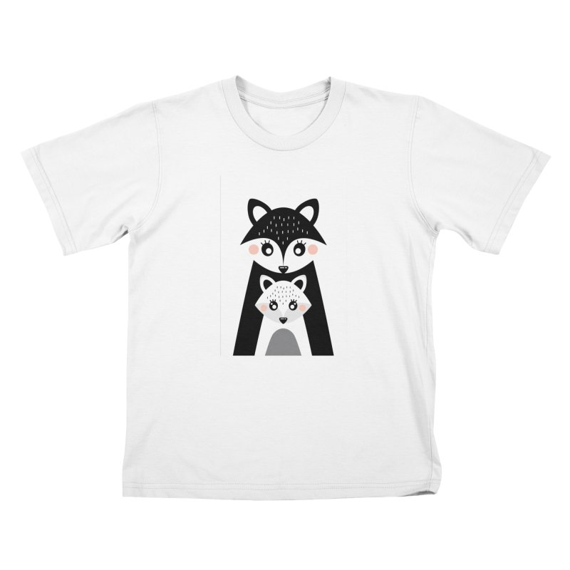 MAMA FOX & BABY FOX Kids T-Shirt by IF Creation's Artist Shop