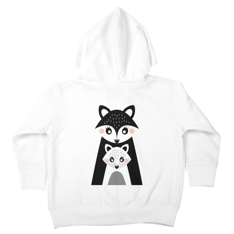 MAMA FOX & BABY FOX Kids Toddler Zip-Up Hoody by IF Creation's Artist Shop