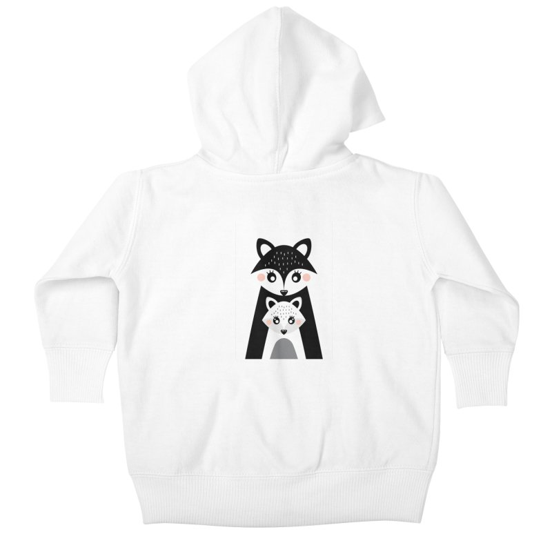 MAMA FOX & BABY FOX Kids Baby Zip-Up Hoody by IF Creation's Artist Shop