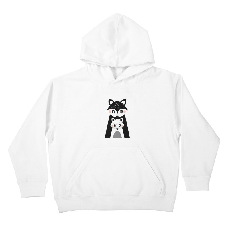 MAMA FOX & BABY FOX Kids Pullover Hoody by IF Creation's Artist Shop