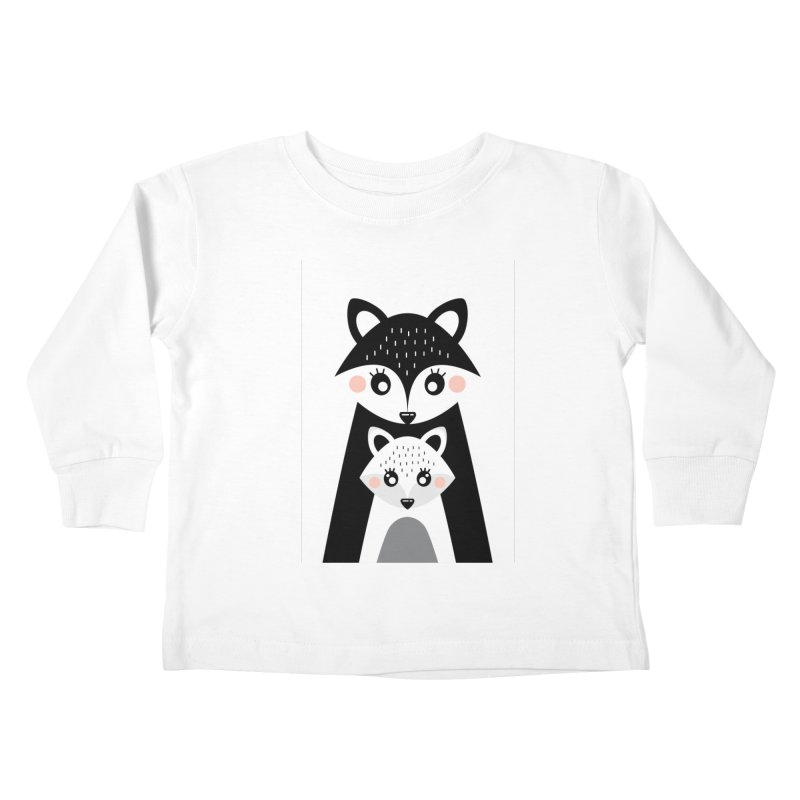 MAMA FOX & BABY FOX Kids Toddler Longsleeve T-Shirt by IF Creation's Artist Shop