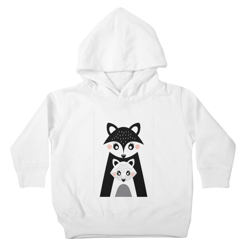 MAMA FOX & BABY FOX Kids Toddler Pullover Hoody by IF Creation's Artist Shop
